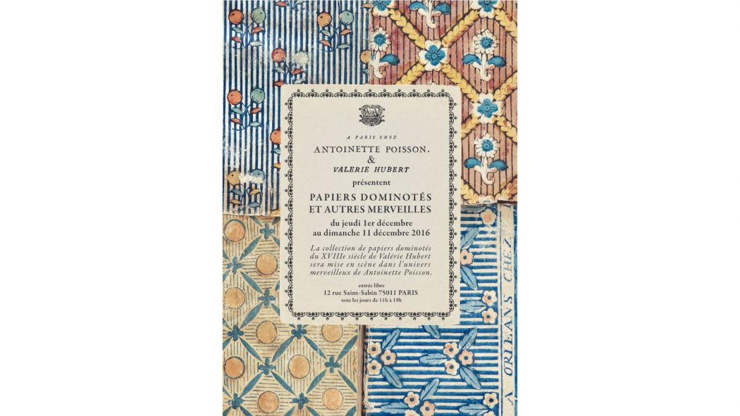 """Exposition"""" Papiers dominotés et autres merveilles"""" du 1er au 11 décembre 2016"""