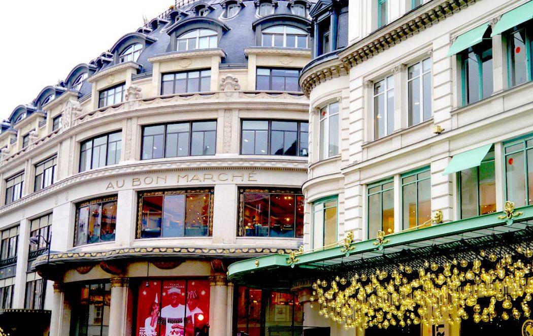 Pop up store de Noël au Bon Marché