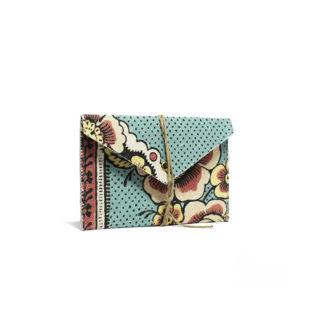 pochette porte-carte motif papier dominoté d1a